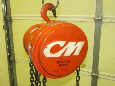 1/2 ton CM Cyclone 646 Series Chain Fall Hoist 7ft 6in of lift, load limiter