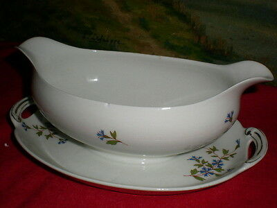Sauciere Porcelaine Decor Au Barbeau