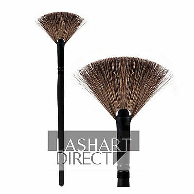 LashArt Fan Brush For Loose Eyelash Extensions Extra Soft Goat Hair