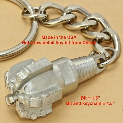 PDC Oil Drill Rig Bit keychain drillbit Pendant oilfield trash roughneck sticker