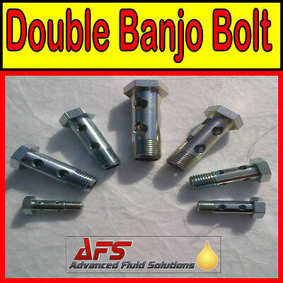 Metric DOUBLE BANJO BOLT Long Fitting - Diesel Petrol Oil Tube Pipe Fuel Filter