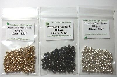 600 Copper Color Tungsten Fly Tying Beads Assorted Sizes B Angelsport-Artikel