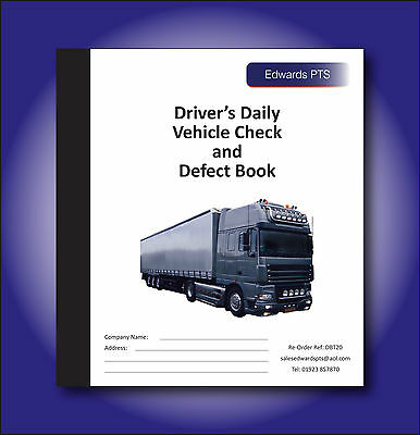 Driver's Daily Vehicle Check & Defect Book-Truck - 20 Page Duplicate