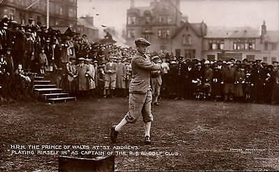 Golf. The Prince of Wales at St Andrews. Playing Himself In.