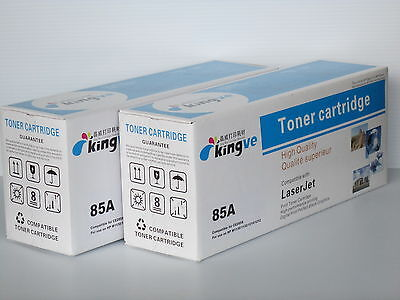 2PK Compatible Toners for HP 85A CE285A fits HP Laserjet P1102 M1212NF M1213NF