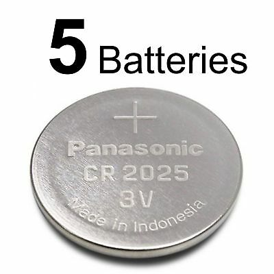 5 PANASONIC CR2025 CR 2025 3v Lithium Battery NEW Expiration Date 2027