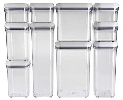 OXO Good Grips Kitchen Food Bathroom Storage Box Pop Container Different Sizes
