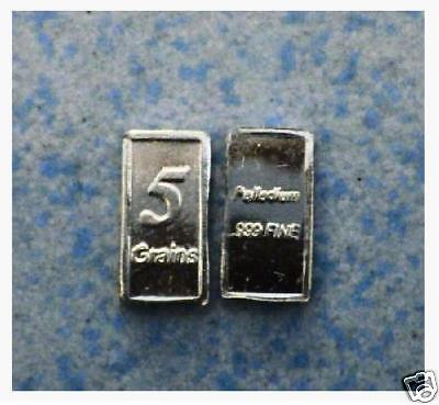 5 Grains Of.999 Pure**********palladium 5 Grain Bar**********a Rare Find