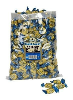 WALKERS ENGLISH CREAMY INDIVIDUAL TOFFEES x 1kg (Approx 110) TRADITIONAL SWEETS