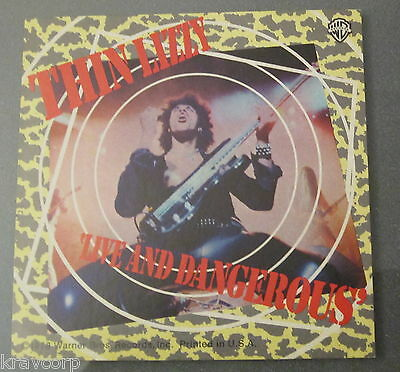 Thin Lizzy 'Live And Dangerous' 1978 Promotional Sticker