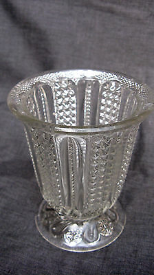 1900 EAPG Pattern Glass Indiana Feather, Feather Swirl Sugar Bowl Base