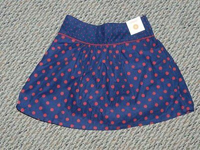 NWT Gymboree Homecoming Kitty Navy/Red Dot Skirt Sz 9