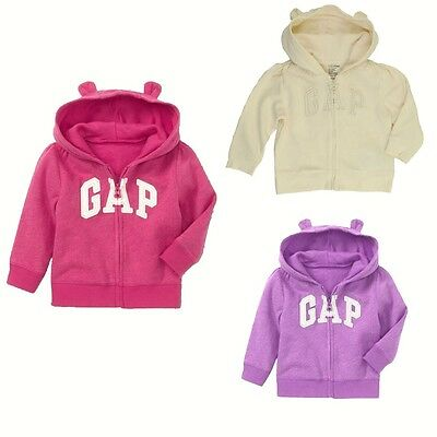 New baby Gap Authentic Girls Boys Arch Logo Bear Ears Hoodie Jacket 3 - 18 month