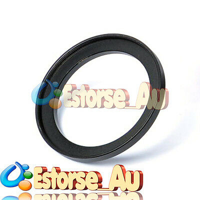 49mm-58mm 49-58mm 49 to 58 Metal Step Up Lens Filter Ring Adapter Black