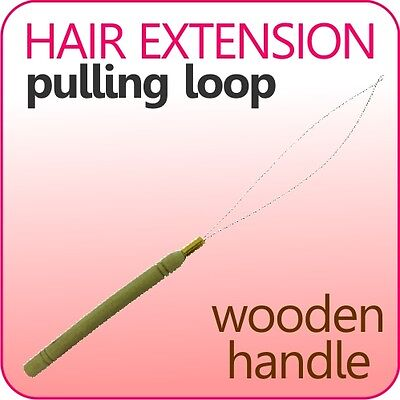 Hair Extension Pulling Loop Hook wooden Professional Tool For silicone micro