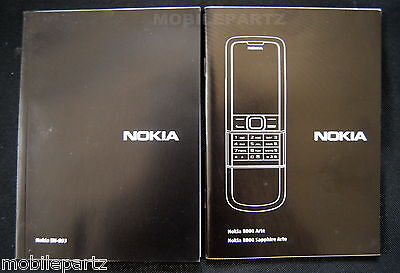 Genuine Nokia 8800 Arte Sapphire Mobile Phone User Guide Manual English Version