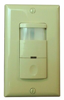 Ivory Infrared 2-in-1 800W PIR Occupancy Motion Sensor Switch Movement Detector
