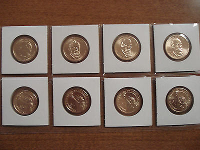 Complete set P&D 2011 Presidents 8 coin set