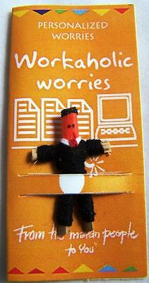 Single Worry Doll Dolls With Workaholic Worry Theme By Mayan Artisans Fair Trade