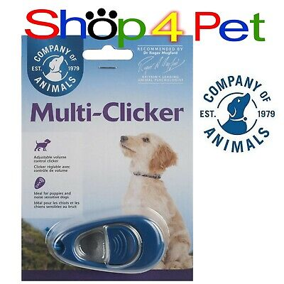 CLIX MULTI - CLICKER with VOLUME CONTROL for DOG TRAINING + FREE TRAINING GUIDE