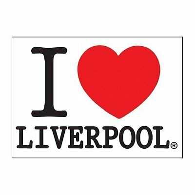 I Love Liverpool Heart Logo Postcard Image Picture Gift City 100% Official