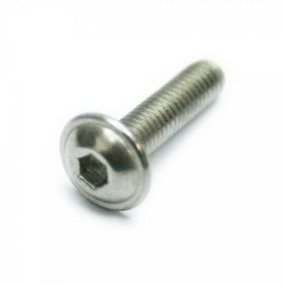 m6 / 6mm a2 stainless steel flanged socket button / dome head allen bolts/screws