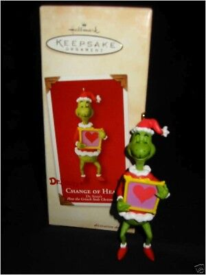 Hallmark DR SEUSS THE GRINCH *Change of Heart* Ornament 2002