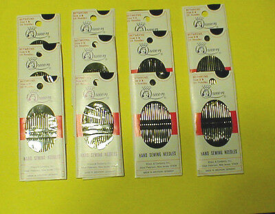 12 Pkgs of 20 Size 3/9 Cotton Darners, Embroidery, Hemming, Hand Sewing Needles