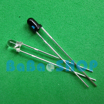 10pcs Launch Emitter + 10pcs Receiver 3mm 940nm IR infrared diode LED Lamp New