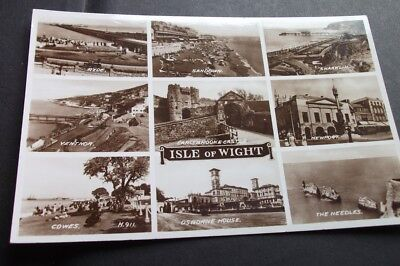 Old Postcard Of Isle Of Wight