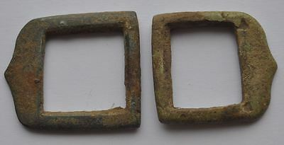 19th Century Russia Antique Relic Bronze Small Shoe Buckles