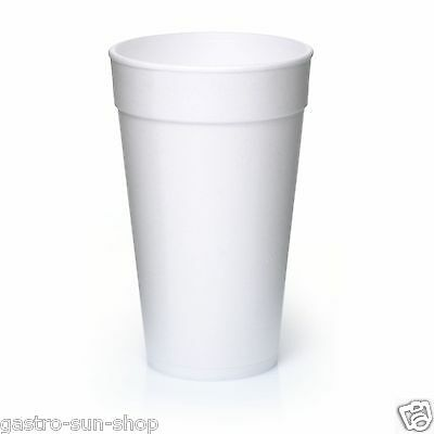 25 Thermobecher Styroporbecher 0,4 l Isolierbecher Coffee to go Becher 400ml EPS