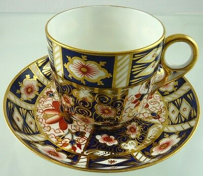 Imari 2451 Coffee Cup & Saucer Can Shape By Royal Crown Derby 1901 1916