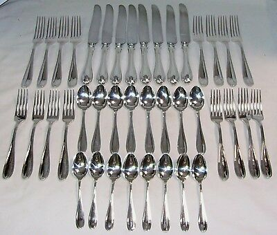 STRATFORD 1880's 40 PC DINNER FLATWARE SET by  BIRKS RODEN STERLING