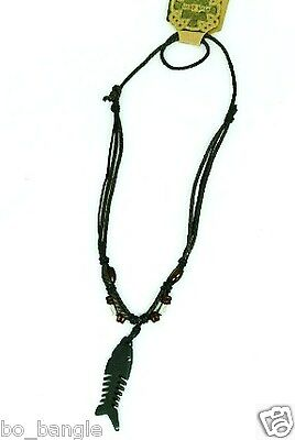 Mens  / Ladies Unisex Surfer / Tribal Style Pendant Necklace On Cord