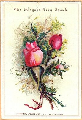 Victorian Trade Card-Niagara Corn Starch-Roses