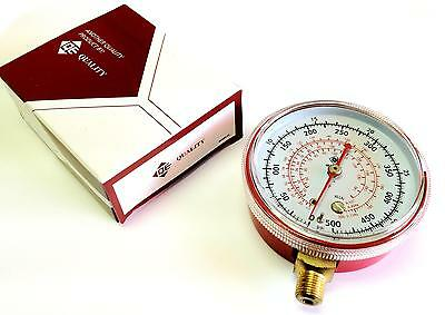 "Q.E. Red (High) 3"" R-134A Replacement Gauge - 500 PSI (NEW)"