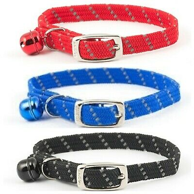 ANCOL REFLECTIVE Softweave Cat Collar with or without Engraved ID Tag