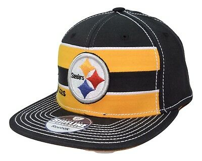 91544c3802f Pittsburgh Steelers Reebok NFL Football Scrimmage Stretch Fit Flatbill Cap  L XL