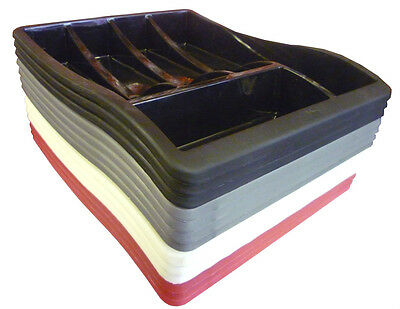 Plastic Cutlery Tray 39Lx30Wx6H (cm) For Cutlery Drawer Available in 5 Colours