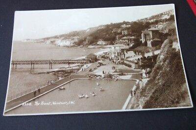 Old Postcard Of The Front Ventnor Isle Of Wight