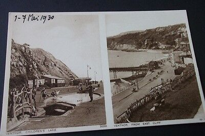 Old Postcard Of Ventor From East Cliff