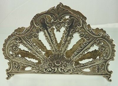 unknown FLOWER & SCROLL SILVER 800 NAPKIN HOLDER BY unknown GERMAN MAKER