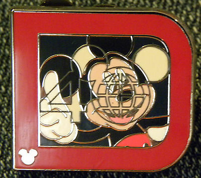 Disney PIN NEW mystery PWP big D completer chaser HM hidden mickey 2012 WDW 2011