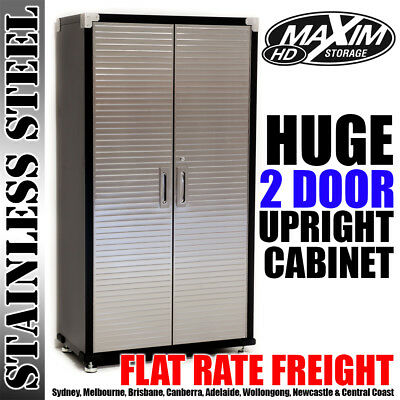 MAXIM Storage Cabinet Cupboard Shed Office Stationery Linen Pantry Garage Shed