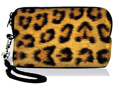 Leopard Soft Bag Case Cover Pouch For Digital Camera,i-Pod ,i Phone 3GS,4G,4S
