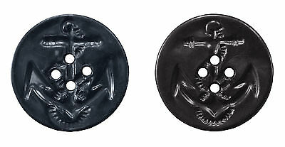 """New 5 Pack Navy Blue Peacoat Replacement Buttons 5 Pack 1-3/16"""" Diameter"""