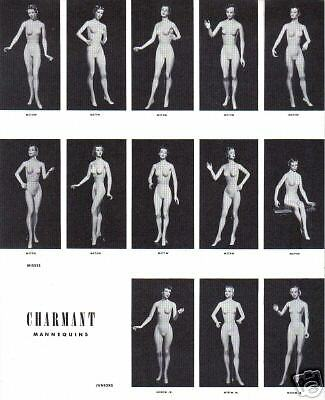 1937 CHARMANT MANNEQUINS Darling Display LOT of 15 Photos Ad Sheets COLDWATER MI
