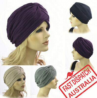 Knitted Unisex Ladies Chemo Headcover Head Wrap Cover Cap Beanie Hat Knit Turban