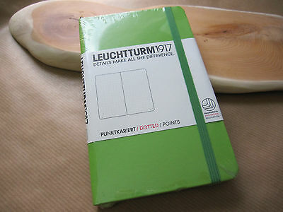 Leuchtturm1917 A6 Pocket Notebook Lime Green Dotted Functional Journal